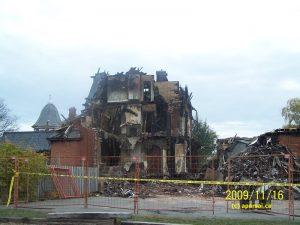 A Chatham-Kent Funeral Home after a Destructive Fire