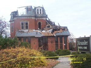 A Chatham ON Funeral Home after Fire