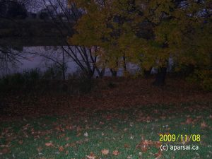 A picture of Thames river at dusk in Chatham Ontario Fall 2009