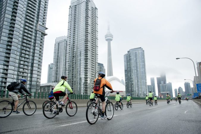 Cycling to CN Tower Toronto