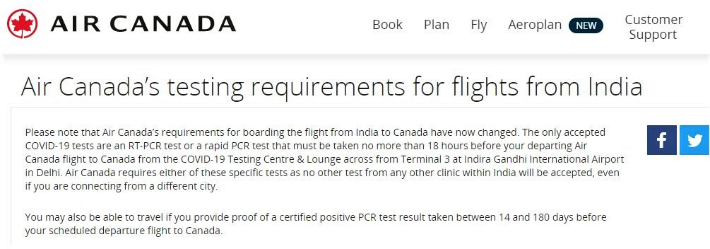 flights from India to Canada